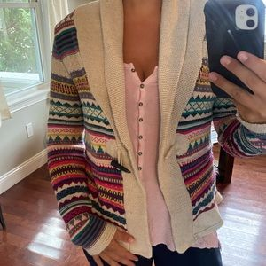 Multicolored Knit Cardigan